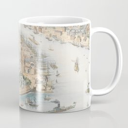 Vintage Pictorial Map of New York City (1852) Coffee Mug