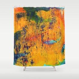 Imaginaere Landschaft II abstrakte Malerei Shower Curtain