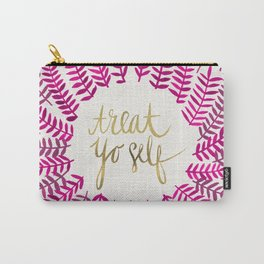 Treat Yo Self – Pink & Gold Carry-All Pouch