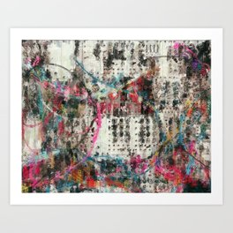 Analog Synthesizer, Abstract painting / illustration Art Print