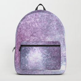 Purple Blue Abstract Watercolor Painting For Her Backpack