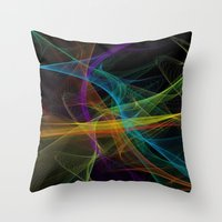 destiny Throw Pillows featuring Destiny by Christine Workman