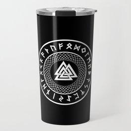 Valknut - Wotans Knot - Odin Rune Travel Mug