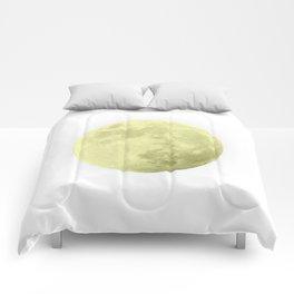 CANARY YELLOW MOON Comforters