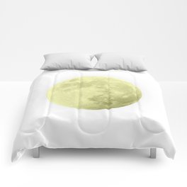 CANARY YELLOW MOON Comforters
