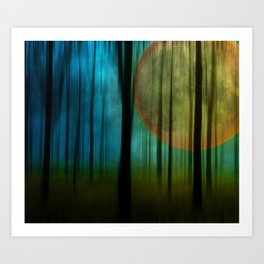 Full Moon Forest Art Print