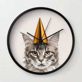 Party Cat Wall Clock