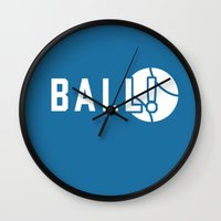 dragon ball Wall Clocks featuring BALL! by TheBluPup