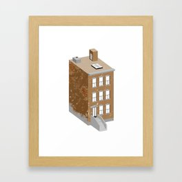 Brownstone Framed Art Print