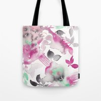 grateful dead Tote Bags featuring Grateful by The East Auklet