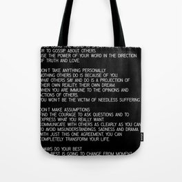 The Four Agreements #minimalist 2 Tote Bag