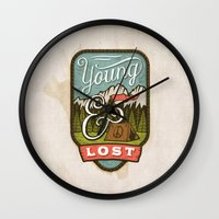 camp Wall Clocks featuring Camp by Seaside Spirit
