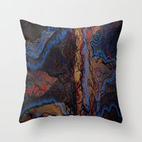 lightning Throw Pillows featuring Lightning by Atziri