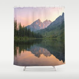 Reflecting The Tetons Shower Curtain