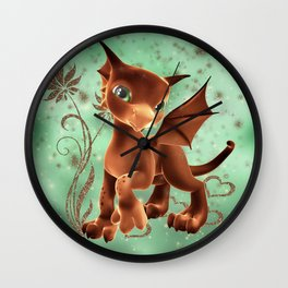 Cuddle Me Dragon 2 Wall Clock
