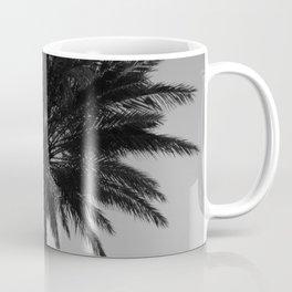Big Black and White Palm Tree Coffee Mug