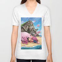 steven universe V-neck T-shirts featuring Steven Universe by toibi