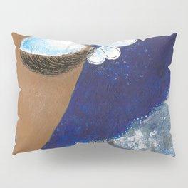 Sassy Girl Royal Blue and White Pillow Sham