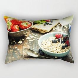 healthy breakfast Rectangular Pillow