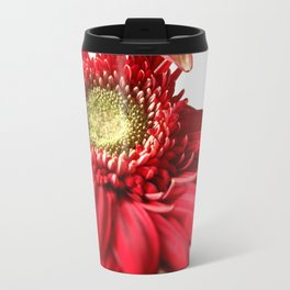 Red and White 2 Travel Mug