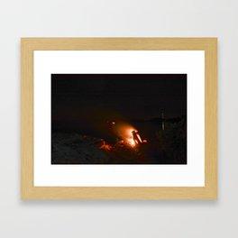 Campfire. Framed Art Print