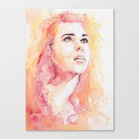 bad wolf Canvas Prints featuring Bad Wolf by Maria Bruggeman