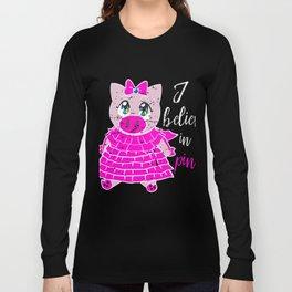 Pink Pig  Shirt Gift Long Sleeve T-shirt