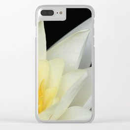 White Lilly 1 Clear iPhone Case