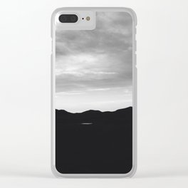 Oklahoma mountains at night Clear iPhone Case
