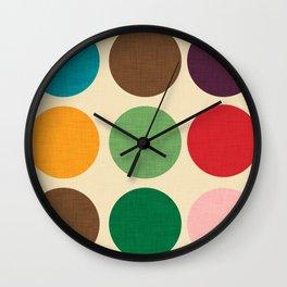 Mod Polka dots #homedecor #midcenturydecor Wall Clock
