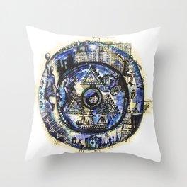 World through time Throw Pillow
