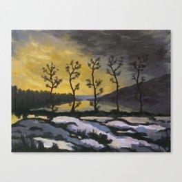 Forever lonely trees (The Danish Girl interpretation) Canvas Print