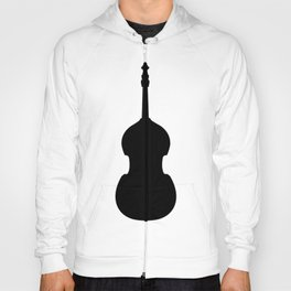 Double Bass Pattern - black on white Hoody