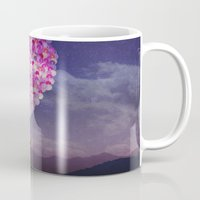 never stop exploring Mugs featuring NEVER STOP EXPLORING IV by Monika Strigel