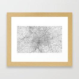 Atlanta Georgia Map (1981) BW Framed Art Print