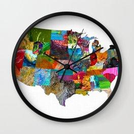 USA Map Wall Clock