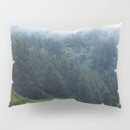 Oregon forest, foggy forest, oregon coast, green forest, nature, moody forest, moody landscape Pillow Sham