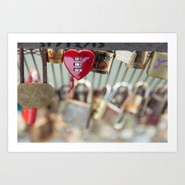 Locked Heart Art Print