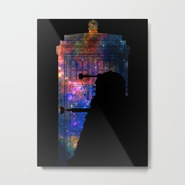 Space Tardis Dalek Metal Print