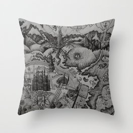 A Study In Imagination Throw Pillow