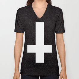 White Cross Unisex V-Neck