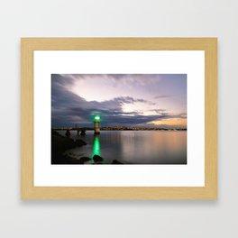 Light at Bradley's Head Framed Art Print