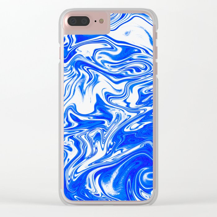 Marbled XX Clear iPhone Case