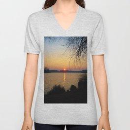 Sunset 1 Photography Unisex V-Neck