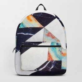 Tri Color Marble Backpack