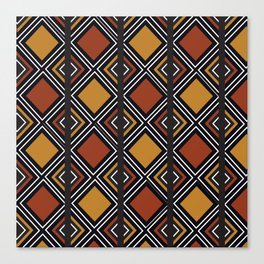 African Tribal Pattern No. 59 Canvas Print