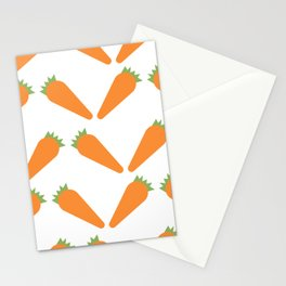 Carrots Pattern Stationery Cards