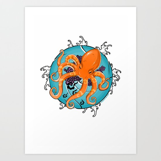 Hexapus Ink 2 Art Print