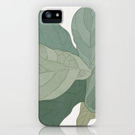 Rachel's Fiddle Leaf iPhone Case