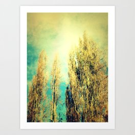 forested mind Art Print